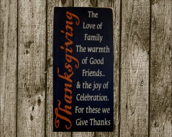 Thanksgiving primitive wood sign Fall