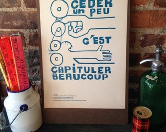 Atelier Populaire Poster Print: To Give A Little...