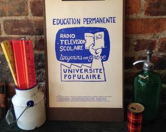 Atelier Populaire Poster Print: Permanent Education