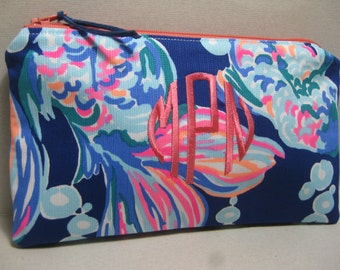 Lilly Pulitzer Make Up Bag/Clutch/Pencil Case  (Going Coastal) w/ or w/out Monogram/Holiday Gift Giving / Preppy/Sorority