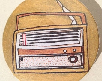 rock n roll radio badge