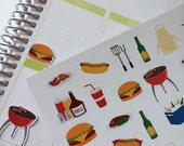 Huge Sale Planner Stickers BBQ Set Life Planner Stickers