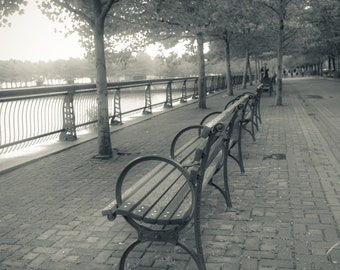Fine Art Photography on Metallic Paper of Benches in Hoboken, NJ