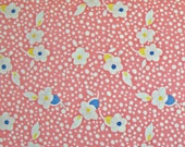 STORE CLOSING SALE - End of Bolt - Toy Box, 1930s Reproduction, Sara Morgan, Blue Hill Fabrics, Cotton Quilt Fabric, Pink Floral, Quilting