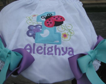 ladybug  Bloomers,birthday bloomers, 1st birthday, ladybug birthday,smash cake bloomers, 2nd birthday bloomers, diaper cover