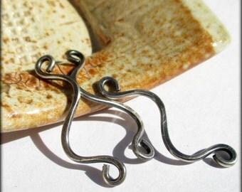 Handmade Sterling Silver Link Dangles 33-35mm - Artisan Jewelry Findings - 16 gauge