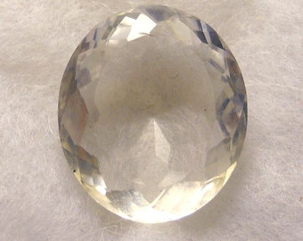 43.5 carat  ...  faceted quartz crystal gemstone ... 26 x 22 x 11 MM