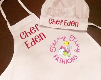 Kids Chef Apron ~ Kids Chef Hat ~ Kids Chef Set ~ girls baking set ~ Christmas apron set ~ boys apron ~ boys chef hat ~ girls chef hat