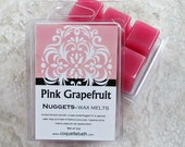 Pink Grapefruit scented wax melts, Citrus wax tarts, Nuggets melts, strong paraffin wax melts, aromatherapy, no burn home scent