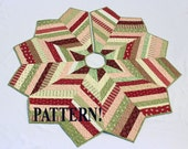 Christmas Tree Skirt PATTERN - Country Strings Tree Skirt, Foundation Pieced Quilt Pattern, Stash Buster Pattern, Chevron Style Tree Skirt