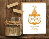 Hoot Hooray Letterpress Greeting Card