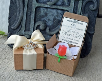 Ring POP ~ Will You Be My Flower Girl Princess Tiara Boxed Invite POP the Question Invitation Rustic Bridesmaid