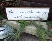 """Hand Painted - These are the days we'll remember - 13""""x37"""" -Distressed - Home Decor"""
