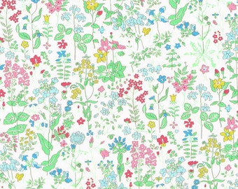 Liberty Fabric  Tana Lawn One Yard Field Flowers A