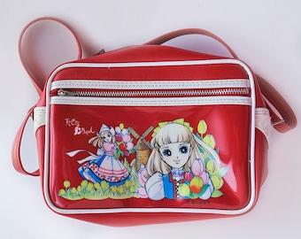 70's anime girl shoulder bag - Chieko Hosokawa