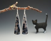 Brazilian Agates, Dangle Earrings, Sterling Silver, Circles and Dots