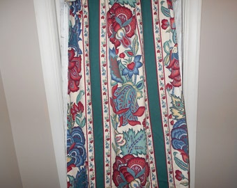 Sale, Vintage drapes, Cotton curtains, vintage fabric, canvas drapes, country decor, Sewing supplies, Fabric, Drapery fabrics, cotton duck