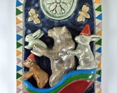 Reserved for Leslie, Ceramic Art Tile,  Winter Sleigh Ride, final payment