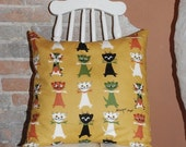 SALE Cat Lovers Throw Pillow Cover featuring vintage Tammis Keefe linen cotton fabric from ShereesAtelier
