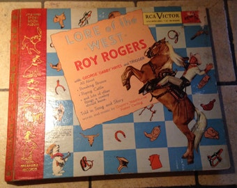 Roy Roger's Lore of the West Children's Record and Book Set by RCA Victor