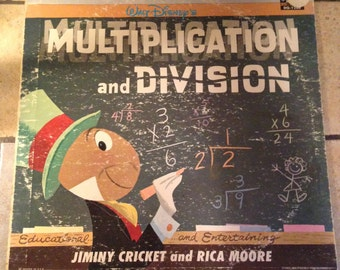 1963 Multiplication and Division Disney Vinyl Record