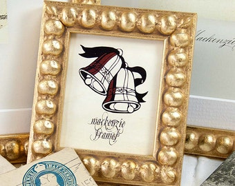 A Cute Little Narrow Gold Boule Photo Picture Frame