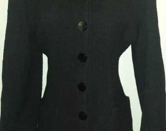 Vintage Valentino Wool Blend Sweater Jacket Size 10