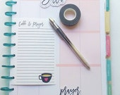 Happy Planner Inserts, Happy Planner To Do List, Happy Planner List, Planner Inserts - Coffee and Prayer
