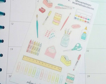Crafty Stickers - Craft Supplies Stickers - Planner Stickers