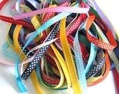 20 x 1m Mixed Ribbons, Scrapbooking, Journals, Ribbon Embellishments, Ribbon Trim, Polka Dot Ribbon - CLEARANCE SALE