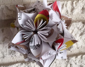 Are You My Mother Book Small Paper Flower Pomander Ornament