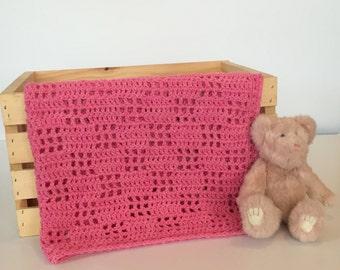 Baby Blanket Girl - Merino Wool - Baby Blanket Girl - Pink