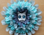 Cat Skull Flower in Shades of Blue