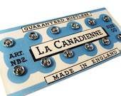 Vintage Silver Snap Fasteners on Original Card - La Canadienne