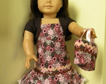 Sundress with shrug and bag for 18 inch doll