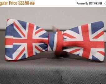 Union Jack British Flag Bow tie