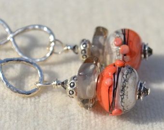ASHY-Handmade Lampwork and Sterling Silver Earrings