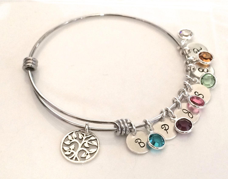 personalized family tree bracelet silver bracelet