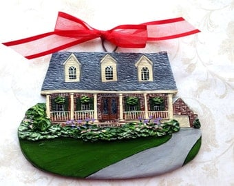 Custom Listing for 83rdClass- four Custom House Ornaments- a cherished keepsake of your home