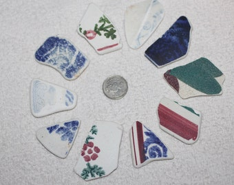 FANTASTIC BEACH POTTERY Shards Awesome Pendent Size Beauties In Rare Beautiful Patterns zy120
