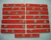 DAISY CHAIN - 15 pc Border Tiles - Ceramic Mosaic Tiles