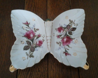 Vintage Butterfly Tray Porcelain Ring Jewelry