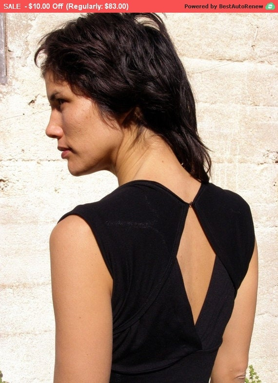 Sale Womens  top blouse-Summer top- The TURNAROUND CHIC TOP-Womens tops-2 ways shirt-Black womens top-Convertible top/shirt