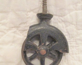 Antique Cast Iron Caster Industrial not perfect