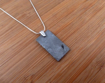 Henbury Iron Meteorite Sterling Silver Pendant / Necklace.
