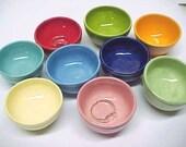 Mini Ring Bowl, Miniature Pottery, Bright Colors