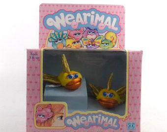 Wearimals Barrettes Stuffed Animals Clips Vintage 1980s Goldfish Hasbro