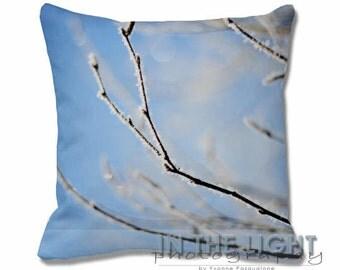 Frozen Fog 3 - Fine Art Photography Pillow for home decor