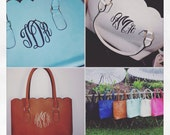 Monogrammed Womans Scalloped Tote Bag - 25% OFF!