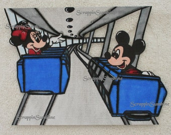 DISNEY People Mover Ride - Scrapbook Page Printed Paper Piece - SSFF